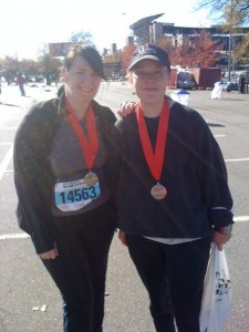 Finishing the Atlanta Half-Marathon